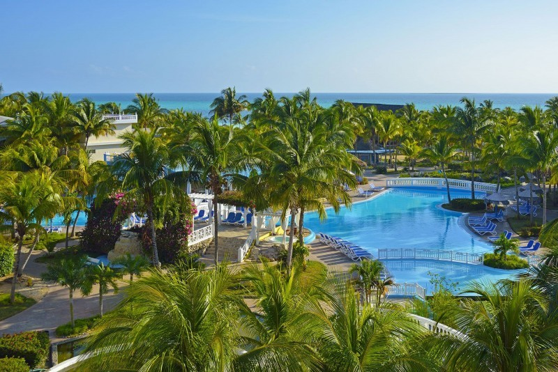 Melia Cayo Guillermo Aerial View of Swimming Pool and Gardens