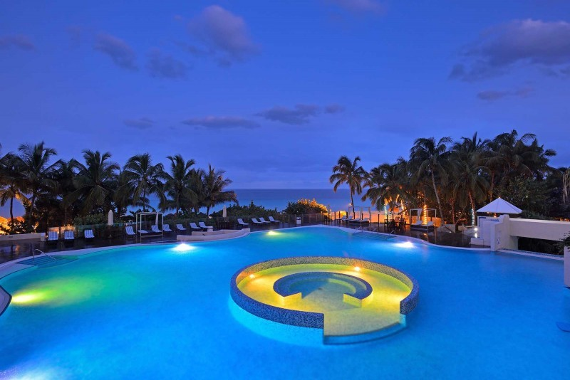 Melia Las Americas Swimming Pool At Night