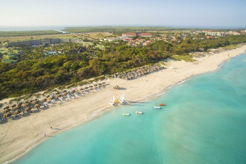 Melia Las Antillas Aerial View Of Resort Beach