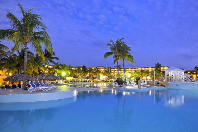 Melia Las Antillas Swimming Pool At Night