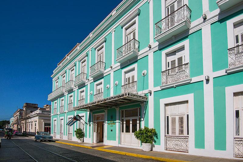 La Union Hotel, Cienfuegos, Cuba external view of hotel