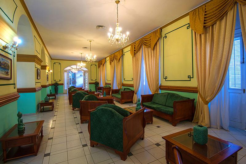 La Union Hotel, Cienfuegos, Cuba lobby area