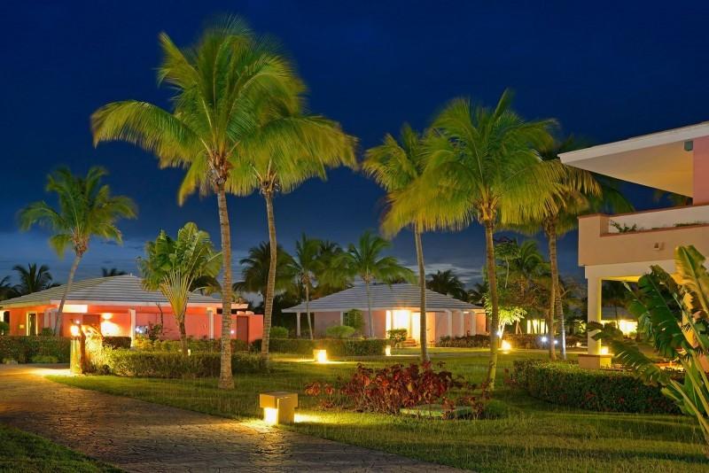 Paradisus Rio de Oro Hotel Grounds Evening