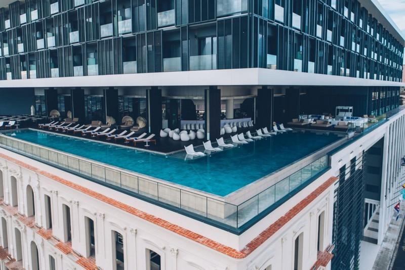 Grand Packard Hotel Havana Aerial Pool View