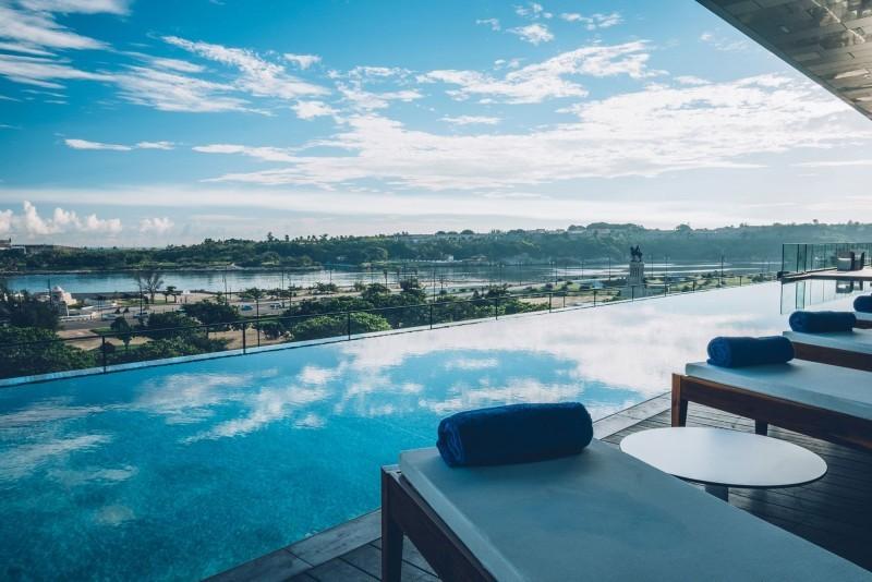 Grand Packard Hotel Havana Pool View of The Bay of Havana
