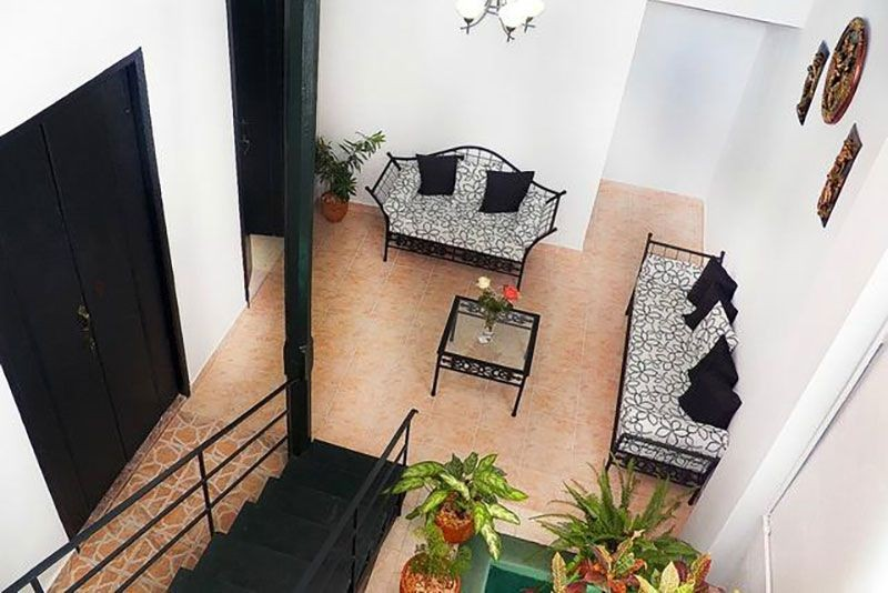 Casa Buenos Aires Havana stair view general seating area