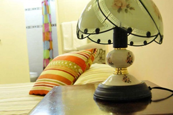 Casa Castellon bedroom side table and lamp