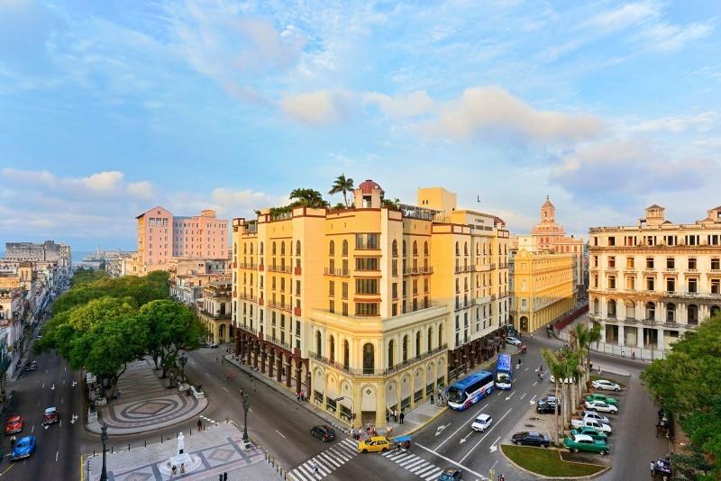 Iberostar Parque Central Havana external view in sunshine