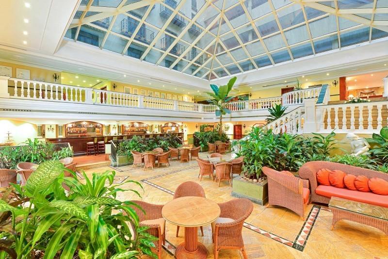 Iberostar Parque Central Havana hotel lobby and bar