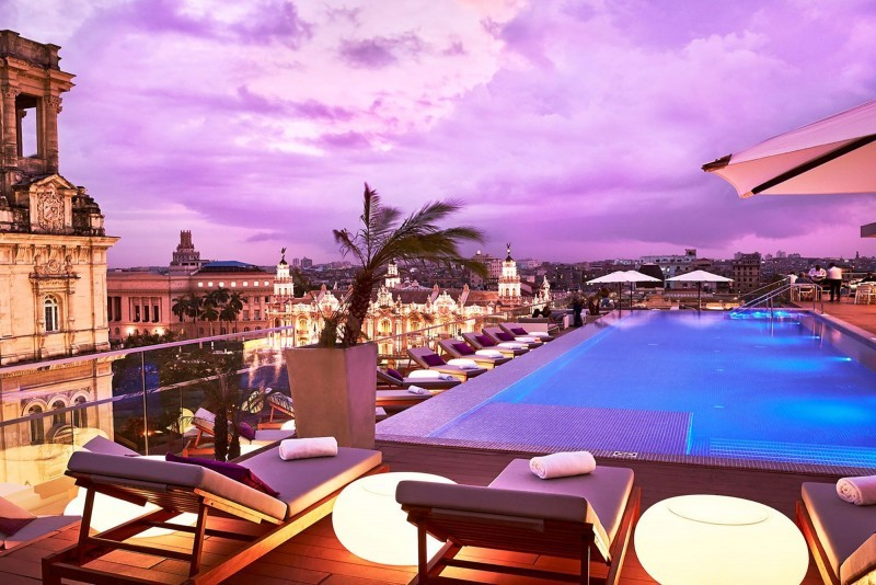 Kempinski Hotel Havana rooftop pool sunset