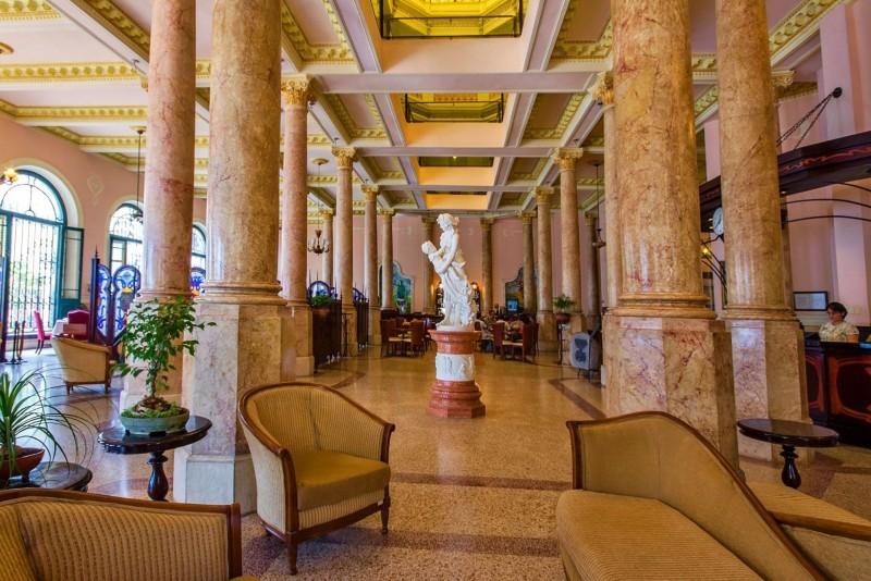 Raquel Hotel Havana view of lobby and reception area