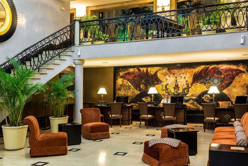 Saratoga Hotel Havana lobby and reception