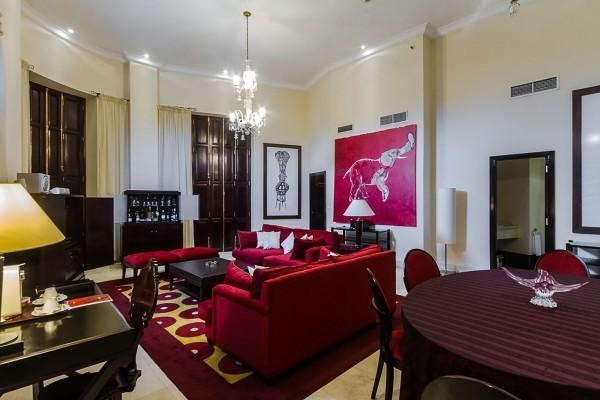 Saratoga Hotel Havana Suite Habana Living Area