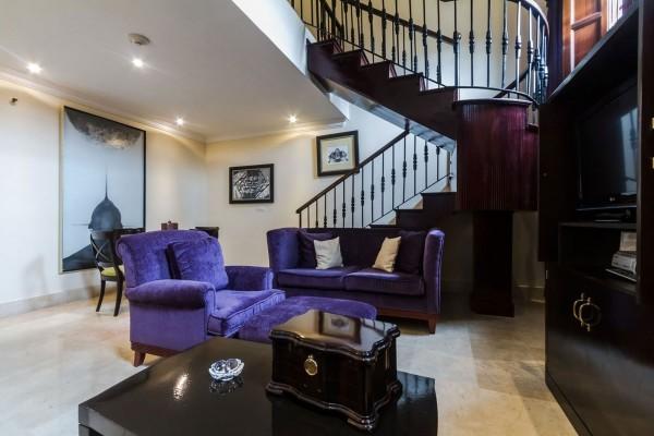 Saratoga Hotel Havana Suite Prado Living Area