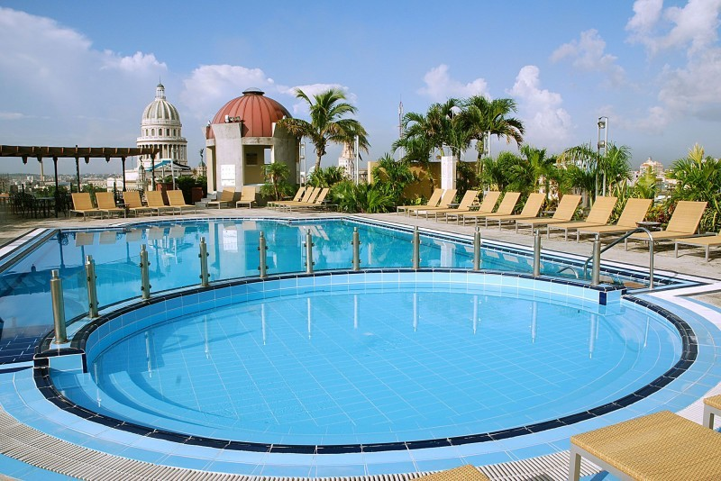 Iberostar Parque Central Havana main rooftop pool