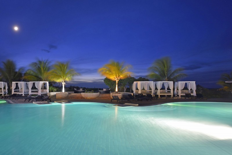 Melia Buena Vista Main Swimming Pool Evening