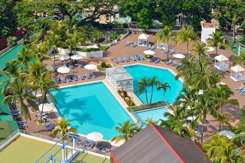 Melia Santiago, Santiago de Cuba Aerial View of Pool