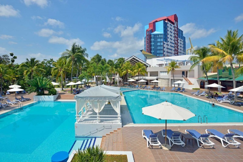 Melia Santiago, Santiago de Cuba Day View of Pool and Hotel