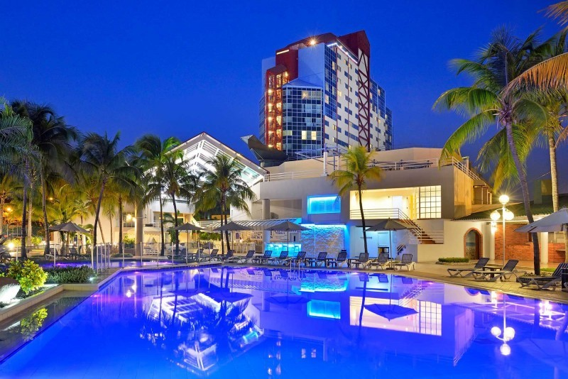 Melia Santiago, Santiago de Cuba Evening View of Pool and Hotel